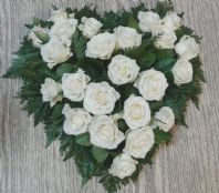HEART WHITE ROSE
